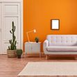 orange living room painting contractors
